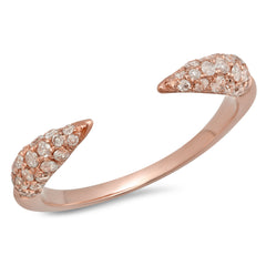 Elodie K Rose Gold Claw Pinky Ring