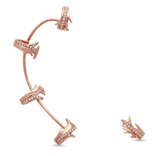 Elodie K Rose Gold Thorns Ear Cuff