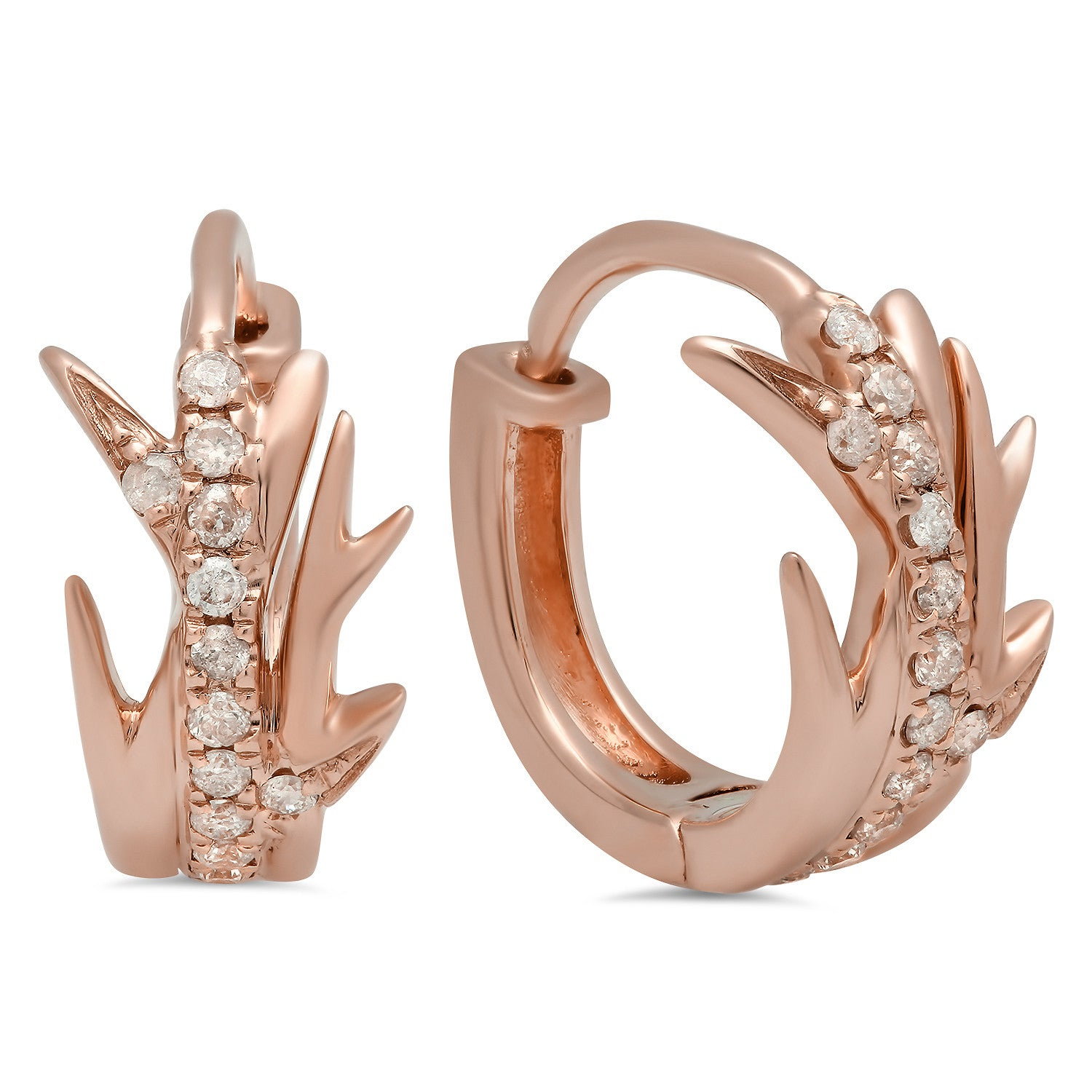 Elodie K Rose Gold Thorns Hoop Earrings