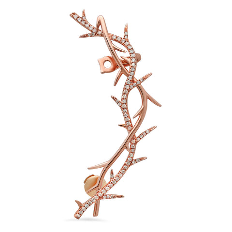 Elodie K Rose Gold Thorns Pierced Ear Cuff