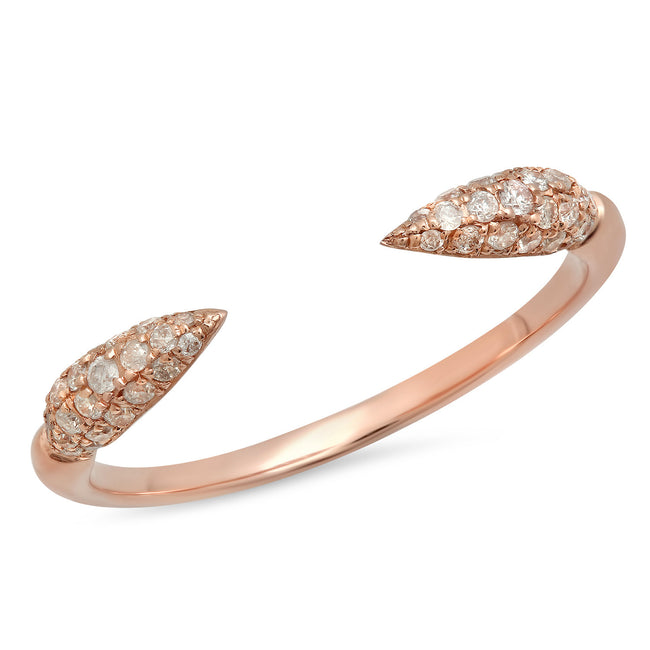 Elodie K Rose Gold Claw Ring