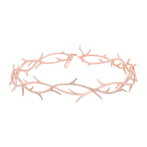 Elodie K Rose Gold Thorns Choker
