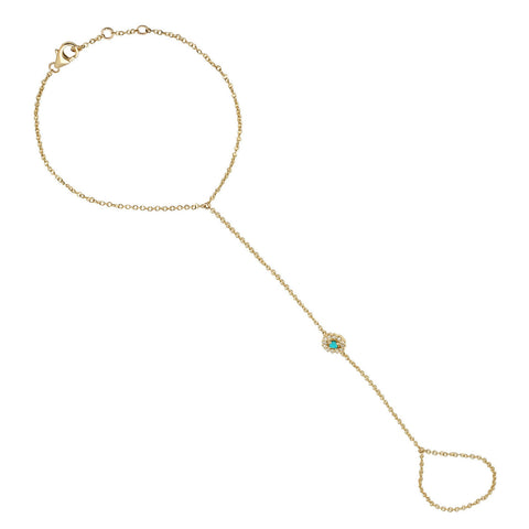 Sun Hand Chain Yellow Gold