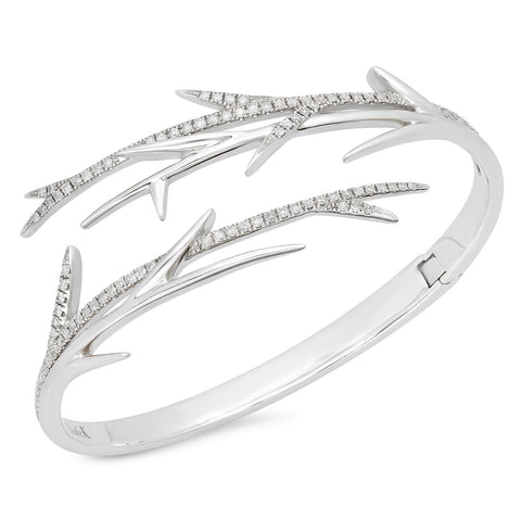 Thorn Cuff White Gold