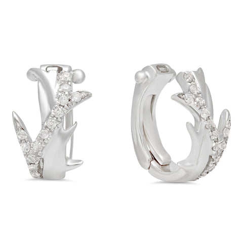 Elodie K White Gold Thorns Mini Ear Cuffs