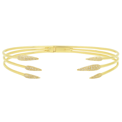 Elodie K Yellow Gold Claws Choker