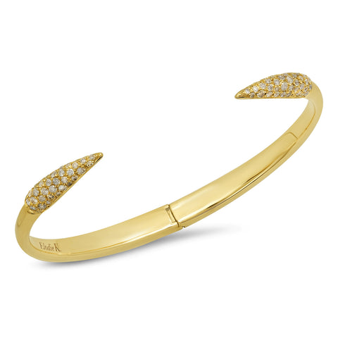 Elodie K Yellow Gold Claws Cuff