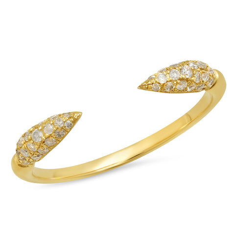 Elodie K Yellow Gold Claws Ring
