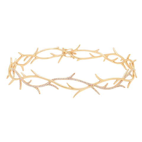 Elodie K Yellow Gold Thorns Choker