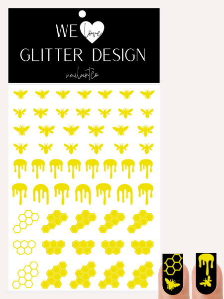 Honey Bee Nail Decal | Bright Yellow