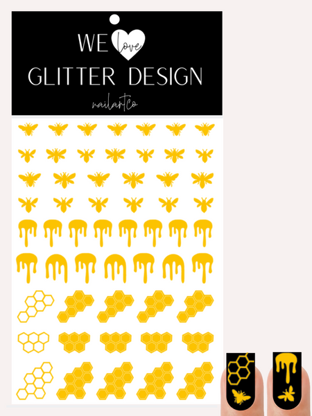 Honey Bee Nail Decal | Yellow
