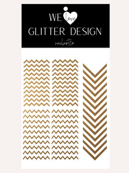 Chevron Nail Decal | Copper Shimmer