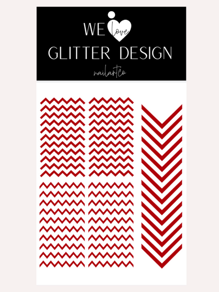 Chevron Nail Decal | Red