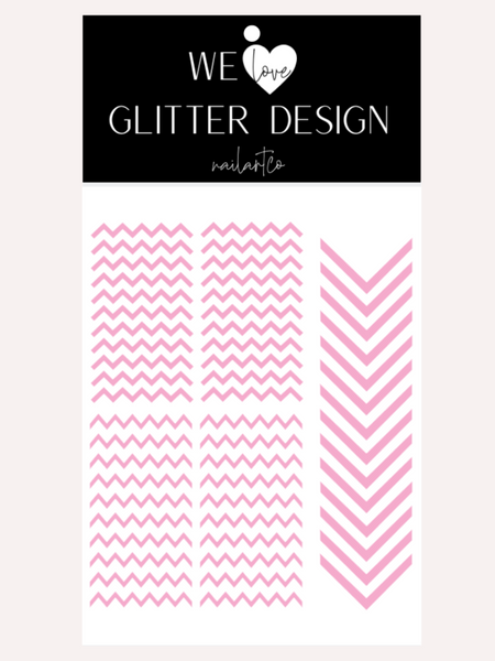 Chevron Nail Decal | Soft Pink