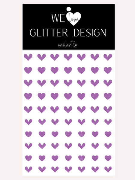 All Hearts Nail Decal | Lavender