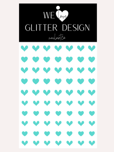 All Hearts Nail Decal | Mint