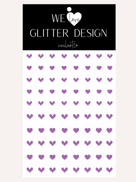 All Hearts Small Nail Decal | Lavender