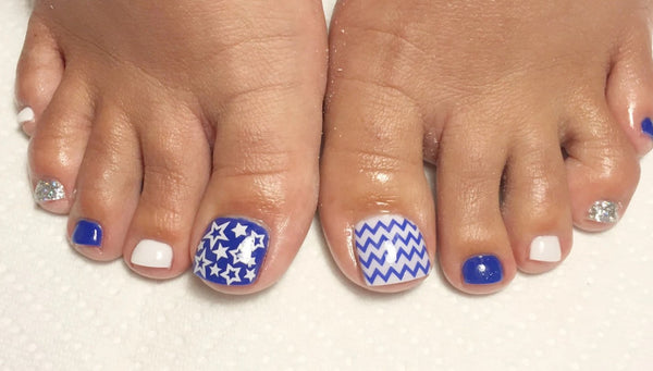 Chevron Nail Decal | Brilliant Blue