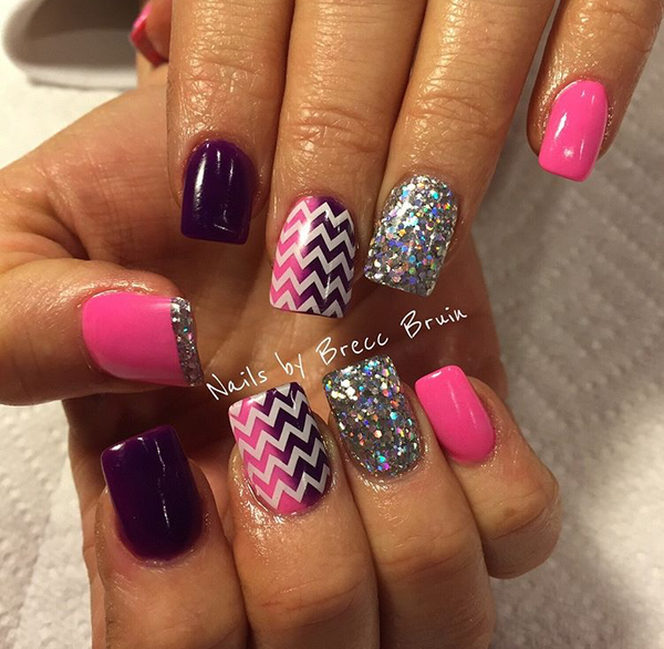 White | Chevron Nail Decal