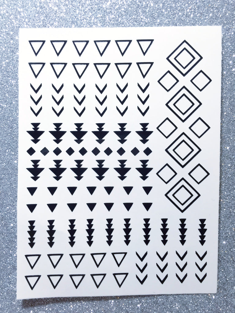 Tribal Nail Decal | Black