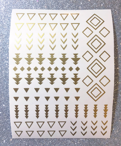Gold Shimmer | Tribal Nail Decal