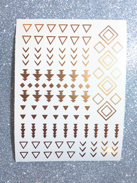 Copper Shimmer | Tribal Nail Decal
