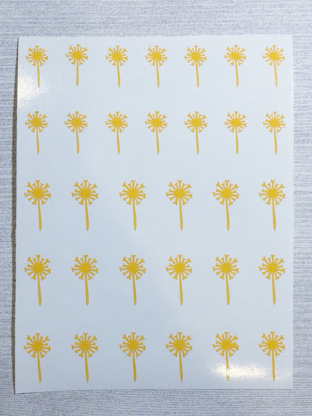 Dandelion Nail Decal | Warm Yellow