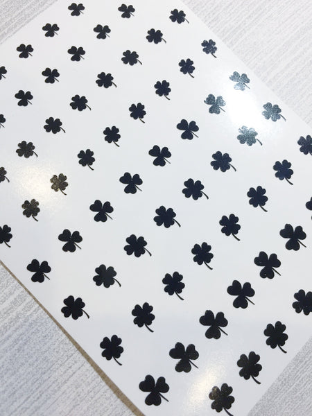 All Clovers Nail Decal | Black