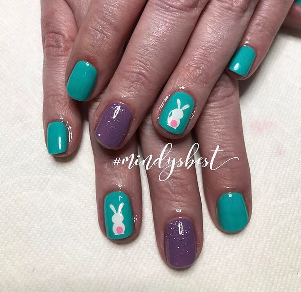 White | Easter Bunny Nail Decal