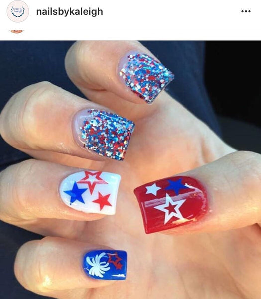 White | Fireworks Nail Decal