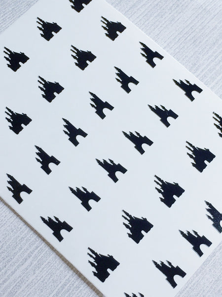 Castle Nail Decal | Black