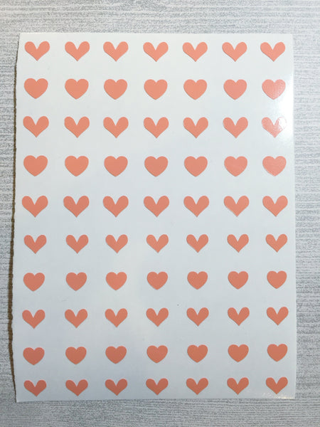 All Hearts Nail Decal | Peach