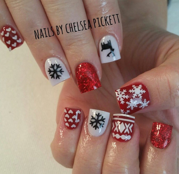 Ugly Sweater DEER DESIGN 1 Nail Decal | Black