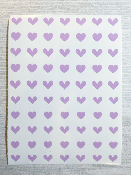 All Hearts Nail Decal | Lilac