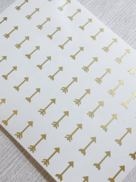 Arrow Nail Decals | Gold Shimmer