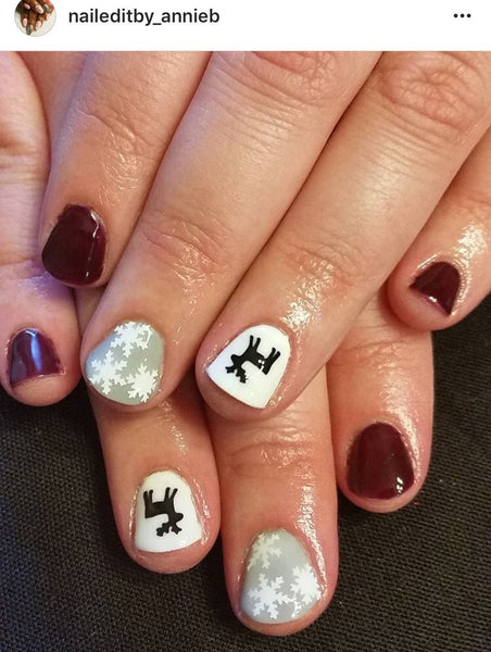 Ugly Sweater DEER DESIGN 2 Nail Decal | Black