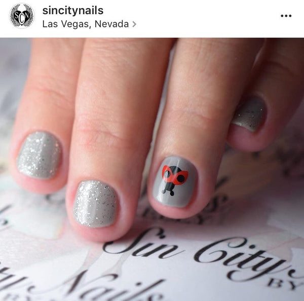 Black and Red | Ladybug Nail Decal