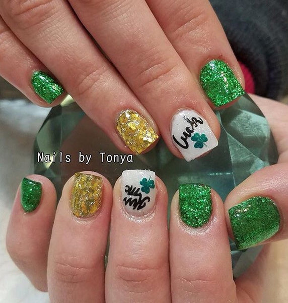 Luck Of The Irish Nail Decal | Black