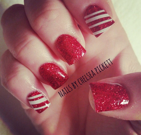 White | Stripes Nail Decal