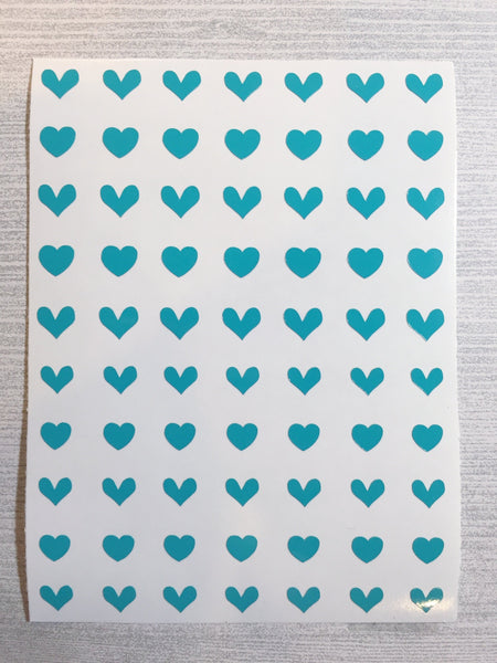 All Hearts Nail Decal | Turquoise