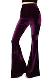 Basics Velvet Bell Bottoms - Amethyst