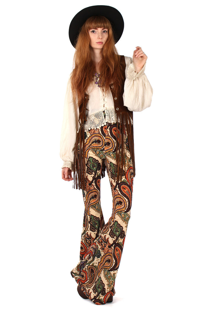 Mantra Paisley Bell Bottoms - Brown