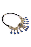 Vintage Tribal Kuchi Lapis Necklace
