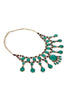 Vintage Tribal Kuchi Turquoise Necklace