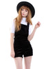 Band of Gypsies Cord Dungaree Playsuit - Charcoal