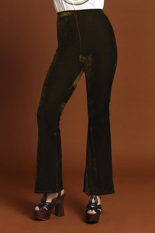 Basics Velvet Baby Bell Bottoms - Emerald