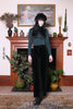 Vintage 60s Black Velvet Flared Trousers