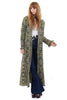 Vintage 70s Lemon Floral Tapestry Hooded Coat