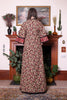 Vintage 70s Angela Gore Russet Floral Lace Hippie Maxi Dress