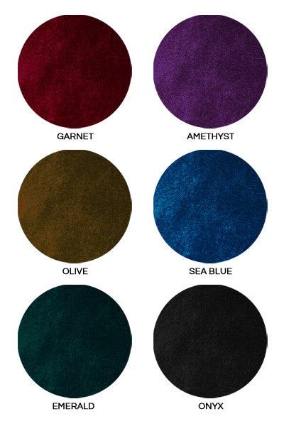 Fabric colour swatches
